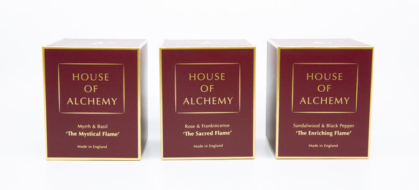 House of Alchemy Duftkerzen Set (3x 50 Std. Brenndauer)
